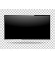 tv blank screen lcd led isolate on background vector image vector image