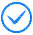 valid rounded grainy icon vector image vector image