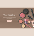 various beauty products isolated on kraft paper vector image vector image