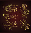 victorian set golden ornate page decor elements vector image vector image