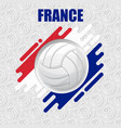 volleyball france background vector image vector image