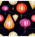 Watercolor seamless chinese pattern vector image