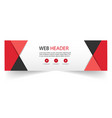 web header abstract red black triangle background vector image