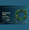 web page design template for christmas holiday vector image vector image