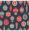 xmas snowflakes pattern vector image