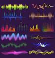 music waves of sound on radio audio vector image