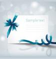 ribbon greeting card vector image