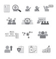set of human resource flat line icon vector image
