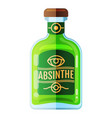 absinbottle beverage flat icon sign vector image vector image