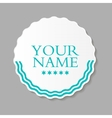 Abstract Design Label vector image vector image