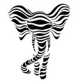 abstract silhouettes of elephant vector image vector image