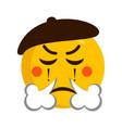 angry mime emoji icon vector image