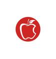 apple design icon logo template vector image vector image