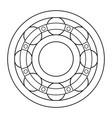 ball bearing contour design vector image vector image