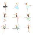 Ballerinas Training In Dance Class Set vector image vector image