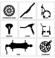 bicycle repair parts icon vector image vector image