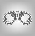binocular sign pencil sketch vector image vector image