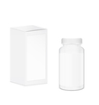 Blank cylindrical pills and tablets container vector image