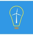 Bulb with wind turbine as eco energy sign vector image vector image