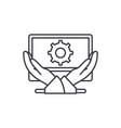 business development line icon concept business vector image vector image
