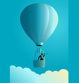 businessman on air balloon using telescope vector image vector image