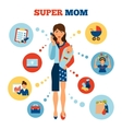 Businesswoman Mother Concept vector image vector image