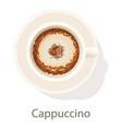 cappuccino icon cartoon style vector image