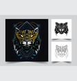 cat ornamental artwork vector image