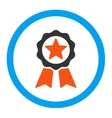 Certification Seal Rounded Icon vector image