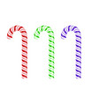 colored sweet striped candy cane vector image vector image