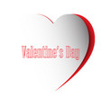 creative valentines day postcard paper cut style vector image