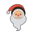 cute face santa claus christmas character vector image vector image