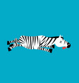 dead zebra african animal deceased corpse of wild vector image vector image