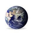 earth with shadowelements of this furnished by vector image vector image