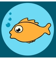 Fish icon vector image vector image