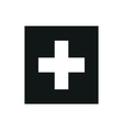 Flag of Switzerland monochrome on white background vector image