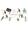 flat business start up concept vector image vector image