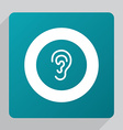 flat ear icon vector image vector image