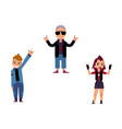 flat elderly young rock women man set vector image vector image