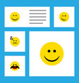 flat icon emoji set of cheerful smile asleep and vector image vector image