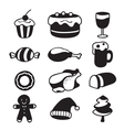 Food And Drink Icons Set Monochrome vector image vector image