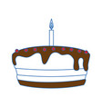 gateau cake sweet vector image vector image