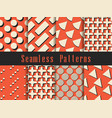geometric modern seamless pattern set triangles vector image vector image