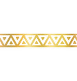 geometric seamless border golden metallic vector image vector image