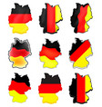 germany map set symbol icon design german flag vector image