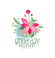 good day logo design element can be used for vector image