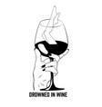 hand drawn glass wine vector image