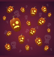 happy halloween banner seamless pattern with vector image vector image