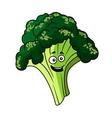 Happy smiling green broccoli vegetable vector image vector image