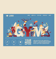 horizontal banner or landing page for gym or sport vector image vector image